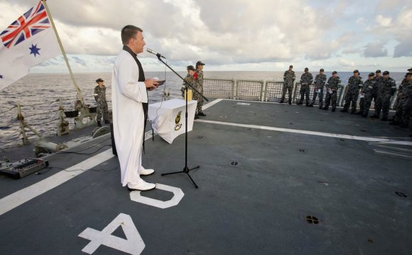 Ashes scattered from HMAS