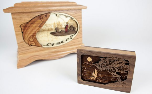 A small keepsake urn next to a