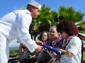 Honoring our Pearl Harbor Veterans with the scattering of ashes