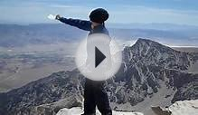 Payge Spreading Moms Ashes at Summit (USA) Mt. Whitney Video